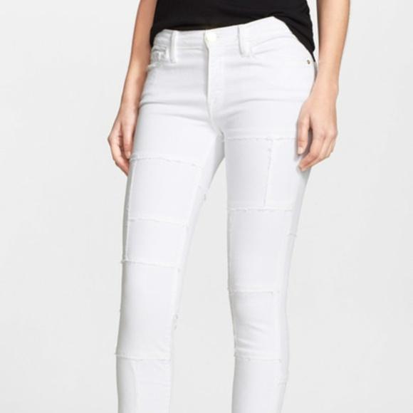Frame Denim Jeans | Le Skinny De Jeanne Panel White | Poshmark